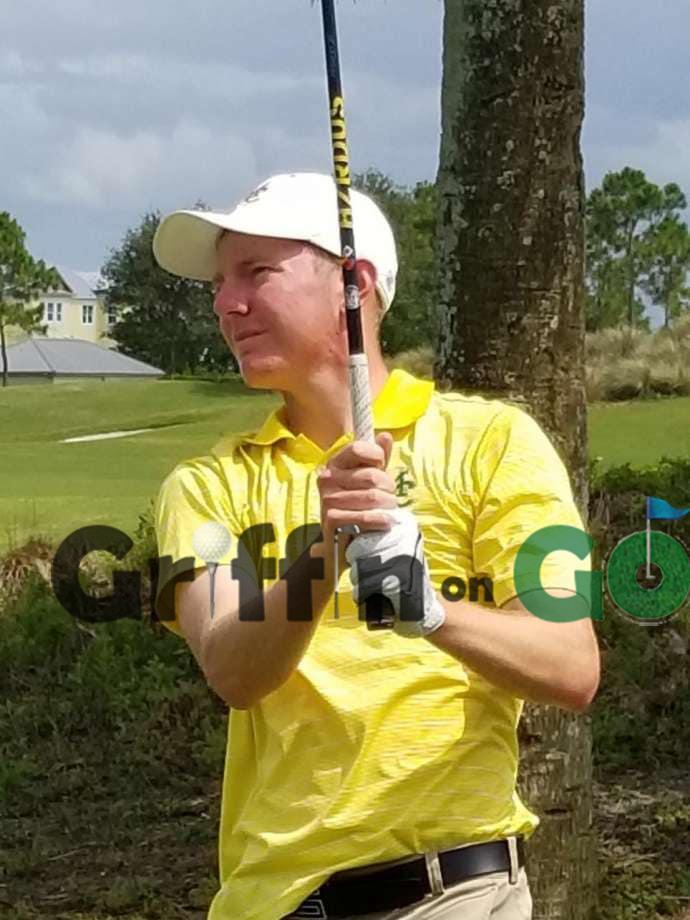 Texas Midland University golfer George Saunders