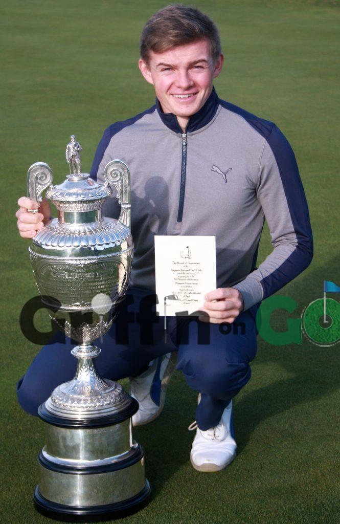 Scott Gregory the 2016 Amateur Champion with his invite to the 2017 Masters at Augusta National Golf Club