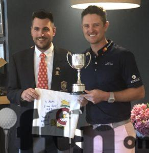 Martin Young and Justin Rose