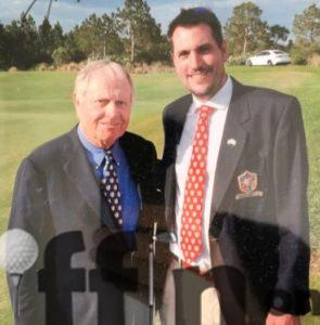 Martin Young with Jack Nicklaus at the 2014 Concession Cup