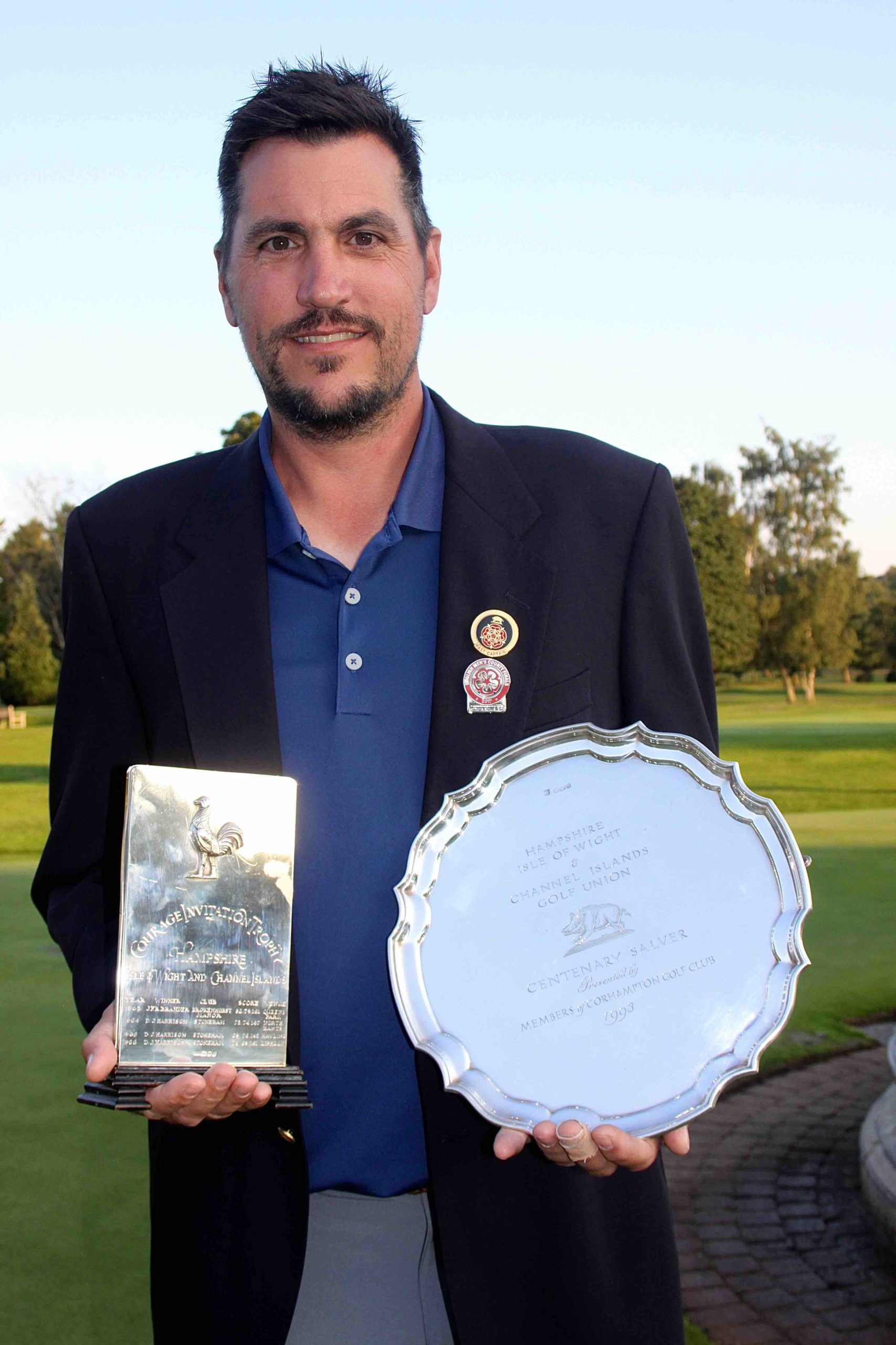 Courage Trophy winner Martin Young